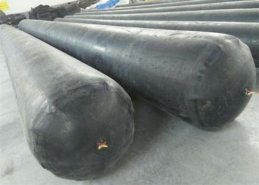 Black Appearance Inflatable Rubber Balloon High Strength For Concrete Pipe
